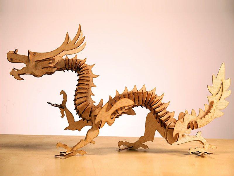 Dragon Cortado en CNC BIGMAKER
